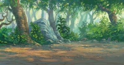 Naklejka malowanie lasu