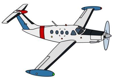 Naklejka Mały samolot zegarek / Strony rysunku, ilustracji wektorowych