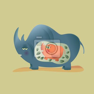 Mama rhino
