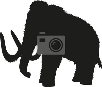 Naklejka Mammoth sylwetka