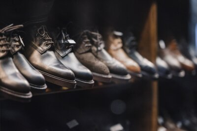 Naklejka Man buty sklep