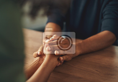 Naklejka Man holding his girlfriend's hand