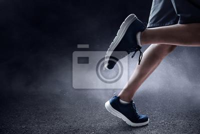 Naklejka Man running outdoor