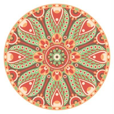 Naklejka mandala okrąg