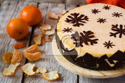 Naklejka Mandarin suflet ciasto
