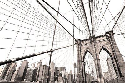 Naklejka Manhattan Bridge, Nowy Jork. USA.