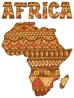 Naklejka Mapa Afryki Wzór / Afryka Streszczenie mapa na białym tle.