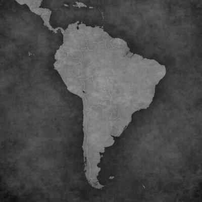 Naklejka Mapa Ameryki Południowej - Blank Mapa