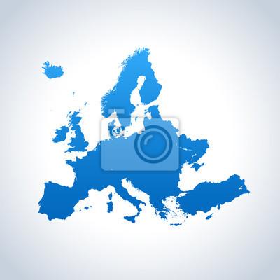 Naklejka mapa Europy