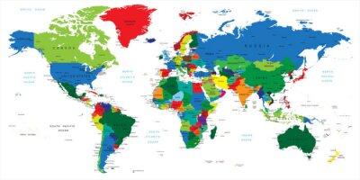 Naklejka Mapa świata-kraje
