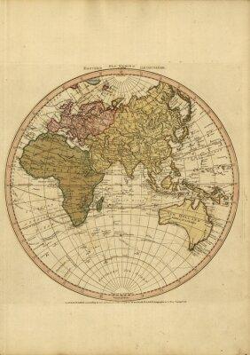 Naklejka Mapa świata w stylu vintage