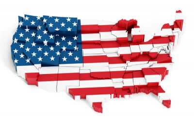 Naklejka Mapa USA