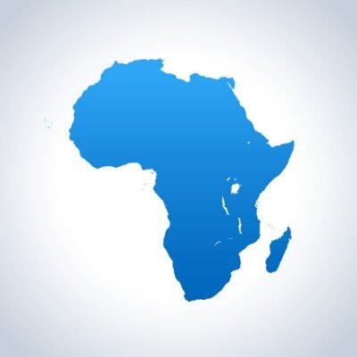 Naklejka mapy Afryki