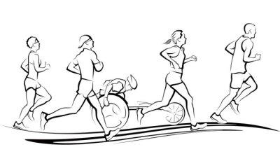 Naklejka Maratończyków