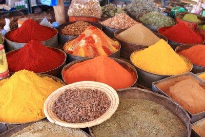 Naklejka Maroko mercato