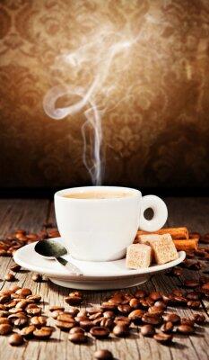 Naklejka Martwa kawy w projektowaniu grunge