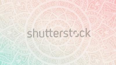 Naklejka Marzycielski gradient tapety z wzorem mandali. Tło dla jogi, poster medytacji.