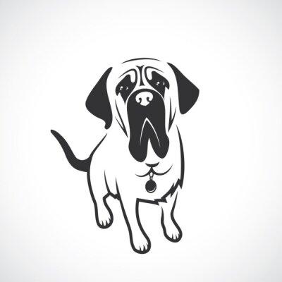 Naklejka Mastif psa