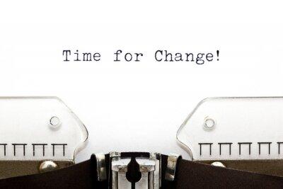 Naklejka Maszyna do pisania dla zmian czasu