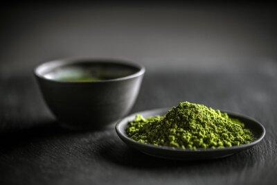 Naklejka Matcha zielonej herbaty