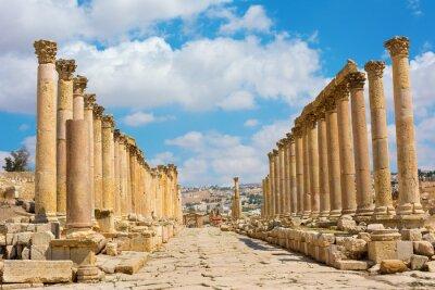 Naklejka Maximus Cardo ulicy w Jerash ruiny Jordan