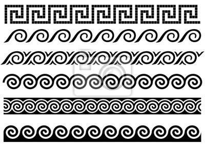 Naklejka meander i fal staro ytny grecki ornament na for Greche decorative