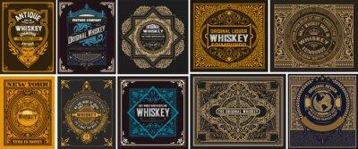 Naklejka Mega set of 10 vintage labels. Vector layered