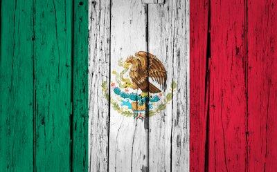 Naklejka Meksyk Bandera Grunge