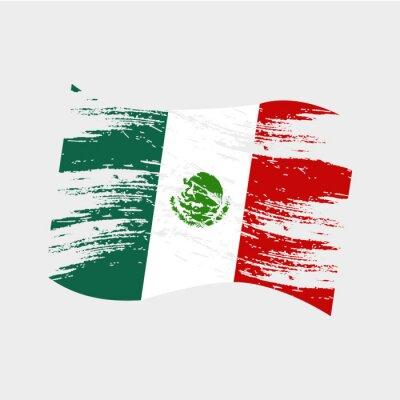 Naklejka Meksyk kolor flagi narodowej w stylu grunge eps10