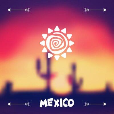 Naklejka Meksykanin wzór tła etniczne w macierzystym stylu.