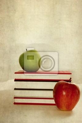 Naklejka Mele e libri su tekstury retro