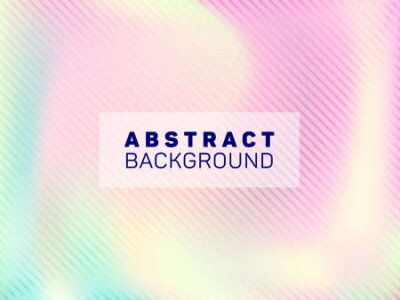 Naklejka Mesmerizing voucher geometric holographic vector background. Business card blurred holo backdrop. Lucid abstract geometric template for voucher design.