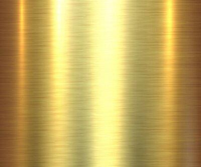 Naklejka Metal gold texture background, golden brushed metallic texture plate.