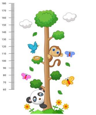 Naklejka Metrowy mur z trzech i dzikich zwierząt