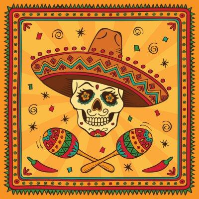 Naklejka Mexican czaszki cukru