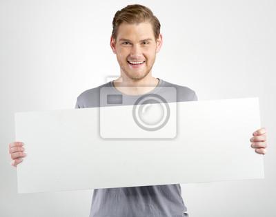 Naklejka Mężczyzna posiadających znak