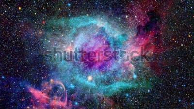 Naklejka Mgławica i galaktyki w kosmosie. Elementy tego zdjęcia dostarczone przez NASA.