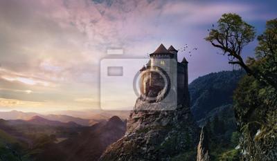 Naklejka mglisty zamek