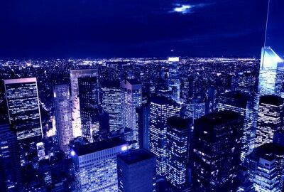 Naklejka miasto nocą