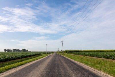 Naklejka Midwest country road
