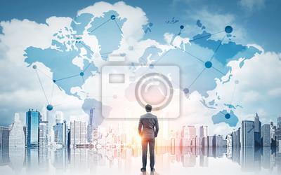 Naklejka Międzynarodowa koncepcja biznesowa