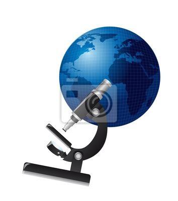 Naklejka mikroskop