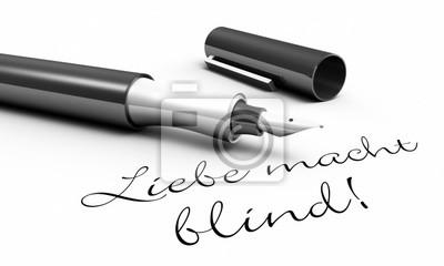 Miłość Jest ślepa Pin Pojęcie Naklejki Redro