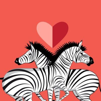 Naklejka Miłośnicy zebry