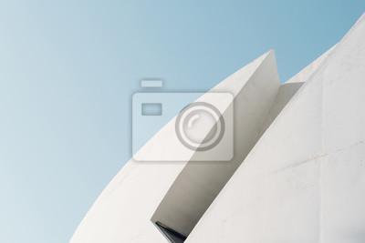 Naklejka Minimalistic architecture facades blue background