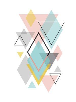 Naklejka Minimalistyczna skandynawska abstrakcyjna sztuka geometryczna