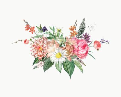 Naklejka Mixed flower bouquet
