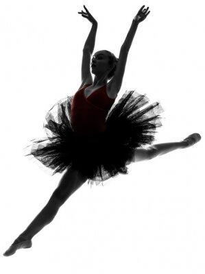 Naklejka młoda kobieta taniec baletnicy tancerz