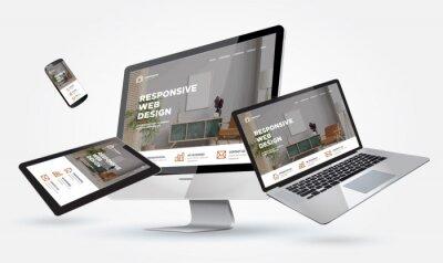 Naklejka mockup webdesign