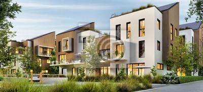 Naklejka Modern apartment buildings